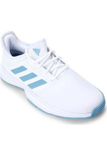 Tênis Adidas Gamecourt Masculino - Masculino-Branco+Azul
