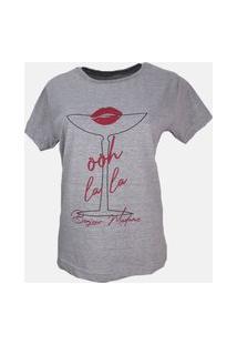T-Shirt Ohh La La Cinza