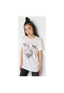 Camiseta Colcci Tigre Branca