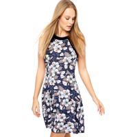 556f4f0780 Vestido Azul Flor feminino