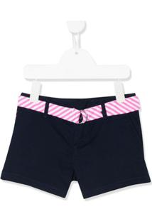 Ralph Lauren Kids Striped Belt Shorts - Azul