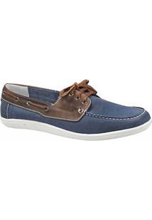 Sapato Masculino Dockside Sandro Moscoloni Columbus Azul