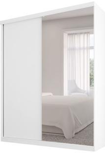 Guarda-Roupa Casal Com Espelho Virtual 2Pt Branco Maderado