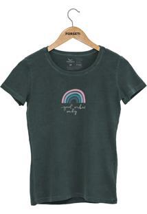 Camiseta Forseti Estonada Good Vibes Verde