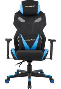 Cadeira De Escritório Gamer Pro Preta E Azul