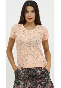Camiseta Devore Com Elã¡Stico- Rosa Claro- Coca-Colacoca-Cola