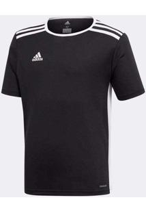 Camisa Adidas Entrada 18 Infantil Preto