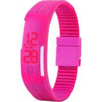 9f2a0346be2 Relógio Led Rosa - Pulseira Ajustável Relógio Led - Pulseira Ajustável -  Rosa
