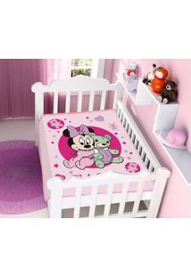 Cobertor Disney Rosa Minnie E Ursinho Jolitex