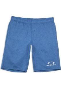 Shorts Logo Fleece Sg Oakley Masculino - Masculino-Azul
