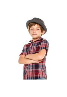 Camisa Infantil Menino Manga Curta Xadrez Digi