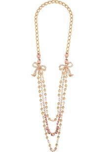 Dolce & Gabbana Colar Com Aplicação De Contas E Cristais - Dourado