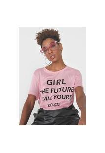 Camiseta Colcci Girl The Future Rosa