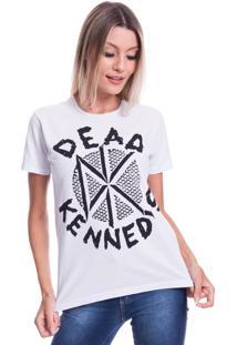 Camiseta Jazz Brasil Dead Kennedys Branco - Branco - Feminino - Algodã£O - Dafiti