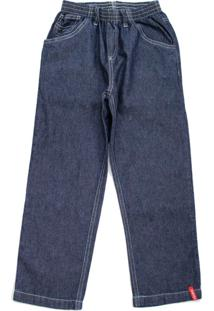 Calã§A Jeans Masculina Com Elã¡Stico Toing Escura - Azul/Jeans - Menino - Algodã£O - Dafiti