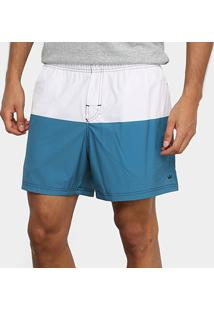 Bermuda Osklen Beach Short Due Masculina - Masculino-Off White+Azul