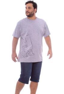 Bermuda Fatal Jeans Regular Fit Azul Masculino - Masculino-Azul