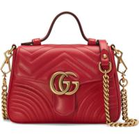6e8984fe2 Farfetch. Gucci Bolsa 'Gg Marmont' Mini - Vermelho