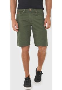 Bermuda Sarja Colcci Reta Noah Verde - Verde - Masculino - Algodã£O - Dafiti