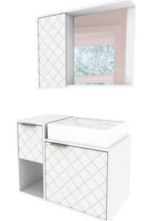 Gabinete De Banheiro Roma 2 Pt 1 Gv Branco