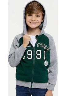 Casaco Infantil Moletom Bicolor Mr