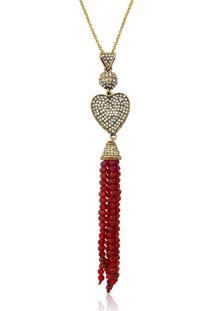 Colar Le Diamond Coraçáo Vermelho - Tricae