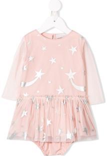 Stella Mccartney Kids Vestido Com Estampa De Estrelas - Rosa