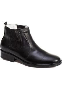 Botina Tchwm Shoes Couro Palmilha Gel Macia Confortavel - Masculino
