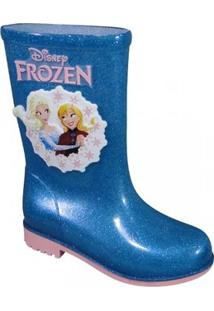 Bota Frozen Infantil - Feminino-Azul