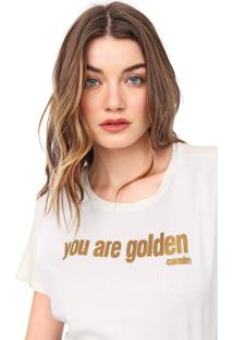 Camiseta Carmim Golden Off-White