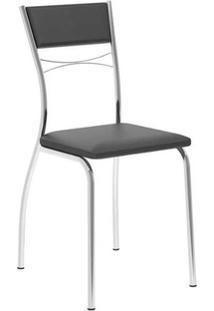 Cadeira Carraro 1701 Aço 4 Unidades Crom/Preto