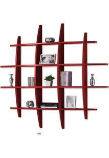 Prateleira Hashtag Grande Vermelho - Tommy Design