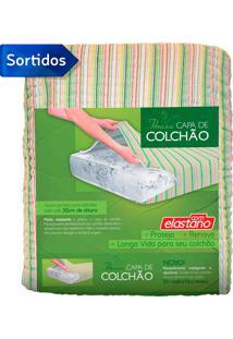Capa Para Colchão Com Elastano Solteiro Cor Sortida - Fibrasca - Colorido