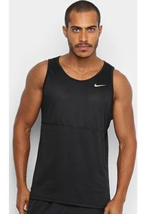 Regata Nike Breathe Run Tank Masculina - Masculino-Preto