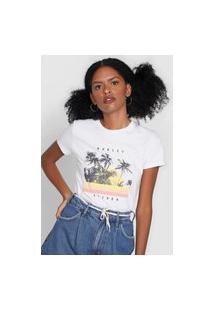 Camiseta Hurley Palm Retro Branca