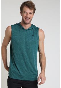 Regata Masculina Esportiva Ace Com Capuz Verde