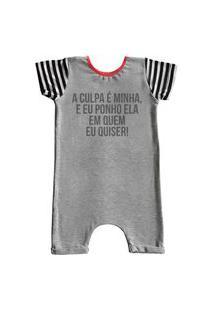Pijama Curto Comfy A Culpa É Minha