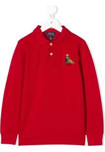 Ralph Lauren Kids Camisa Polo 'Park Avenue' - Vermelho