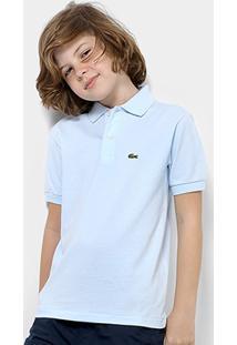 7938793ef3f0e Camisa Polo Infantil Lacoste Masculina - Masculino-Azul Claro