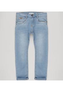 Calça Jeans Infantil Skinny Azul Claro