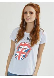 Camiseta Bandup The Rolling Stones Uk Flag - Feminino