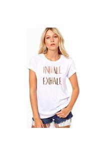 Camiseta Coolest Inhale Exhale Branco