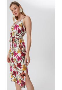 Vestido Midi Alcinha Com Faixa Para Amarrar