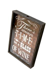 Quadro Decorativo Porta-Rolhas Glass Of Wine - Unissex