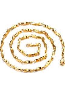 Colar Divanet Corrente Italiana Dourado