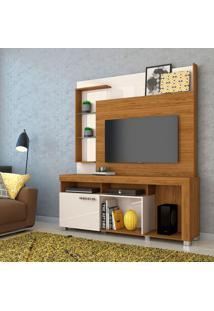 Estante Para Home Theater E Tv Até 50 Polegadas Ícaro Naturale E Off White