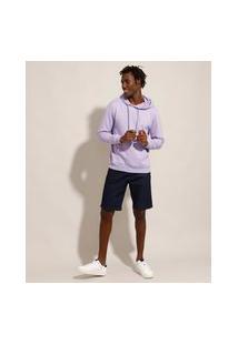 Bermuda Slim Jeans Azul Escuro