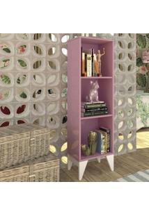 Estante Livreiro 2 Prateleiras Retrô Twister Tcil Móveis Quartzo Rosa