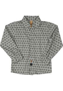 Camisa Polo Em Meia Malha Cinza