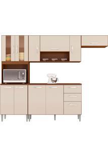 Cozinha Compacta C/ Balcão Lavinia-Poquema - Capuccino / Off White